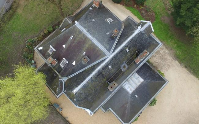 Relevé de toiture par drone à voilures rotatives - GEO-INFRA